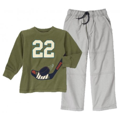 Conjunto Pantalon Gymboree Hockey 22