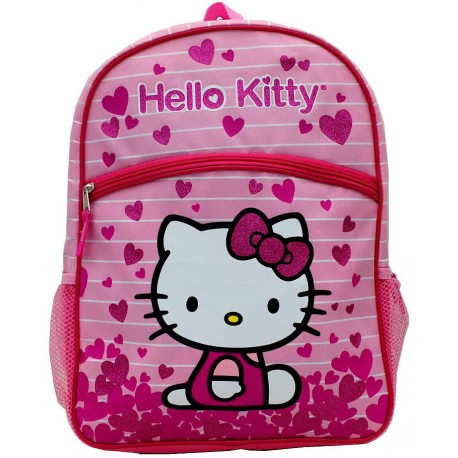maletin escolar Helo kitty corazones